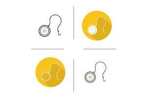 Tea ball infuser. 4 icons. Vector