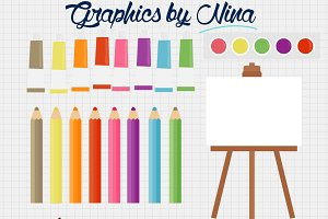 Art supplies clipart