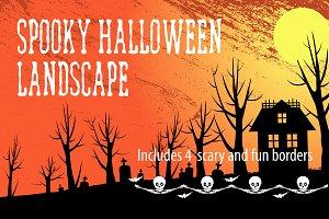 Spooky Halloween Landscape