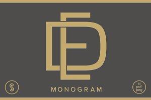 DE Monogram ED Monogram