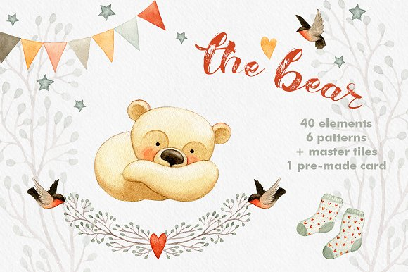 The Bear - mini collection-Graphicriver中文最全的素材分享平台