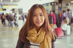 Young asian tourist in Japan