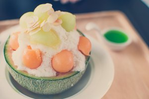 Ice melon Bingsu