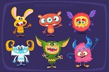 Cartoon monsters set for Halloween