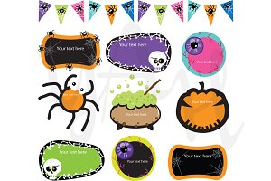 Halloween Label Clip Art