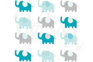 Cute Elephant Clip Art
