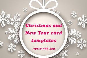 Christmas & New Year card templates