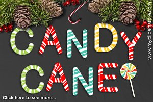 70% OFF - Candy Cane Alphabet