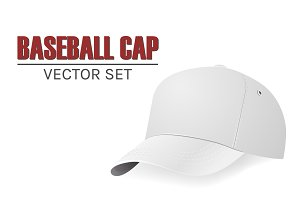 Baseball cap. Vector set.