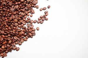 Coffee Beans with Textspace
