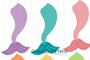 Mermaid Tails Clipart