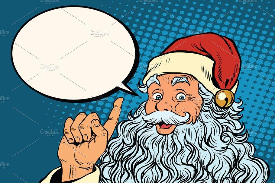 Santa Claus resembles