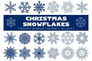 Christmas Snowflakes Vector Bundle