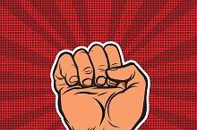 Pop art retro fist