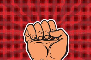 Pop art retro fist