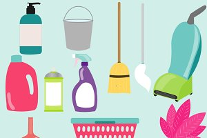 Cleaning Items Clipart