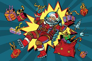 Space Santa Claus Christmas gifts