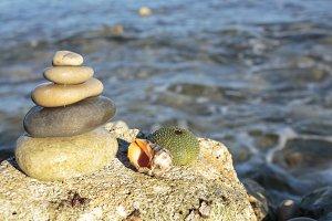 zen symbol with stones