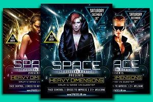 Space Club Heavy Dimension Flyer Tem
