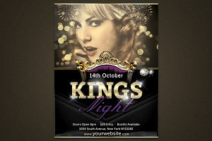 Kings Night Photoshop Template