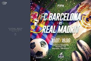 Football Match Customizable Banner