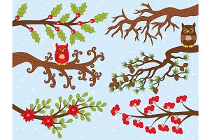 Vector Christmas Branches