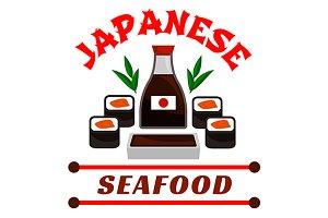 Japanese seafood restaurant emblem