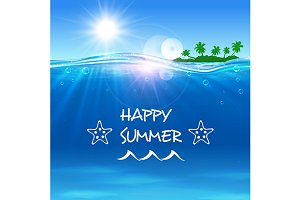 Summer journey travel background