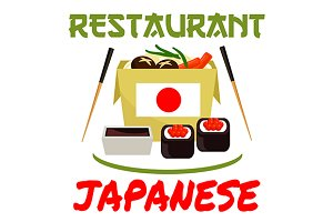 Japanese restaurant emblem