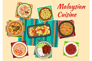 Malaysian cuisine menu dishes