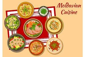 Moldavian cuisine dinner