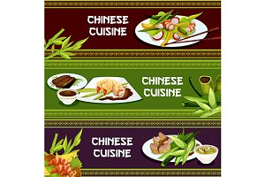 Chinese cuisine restaurant banners