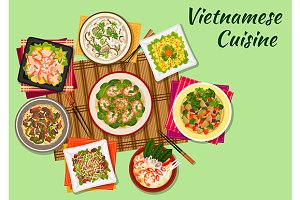Vietnamese cuisine menu dishes