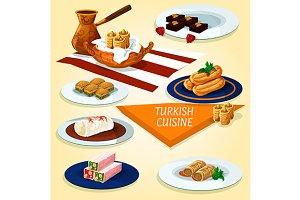 Turkish cuisine delights and dessert