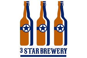 Beer Bottles Star Brewery Retro