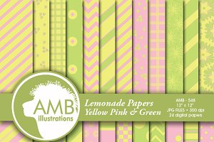 Pastel Yellows, Pinks & Greens 548