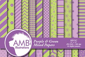 Green and Lavender Papers AMB-547