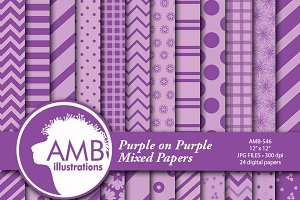 Purple & Lavender Papers AMB-546
