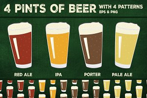 4 Pints: Beer patterns and icons