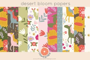 Desert Bloom Digital Papers