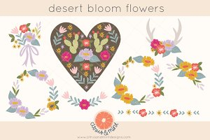 Desert Bloom Flower Clipart