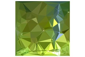 Chartreuse Green Abstract