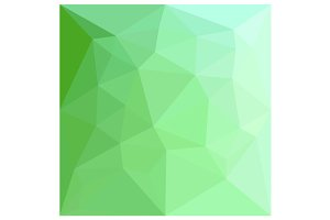 Dark Sea Green Abstract Low Polygon