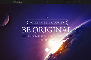 One Page - Responsive HTML Template