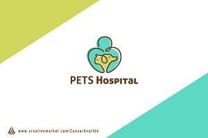 Pets Hospital Logo Template