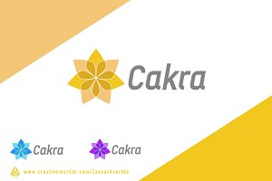 Cakra (Seven Leaves) Logo Template