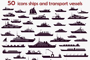 50 vector icons  ships.