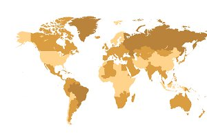 World map vector cream