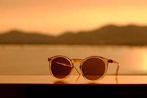 Sunglasses in Summer Sunset