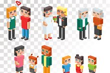 3d isometric family couples vector